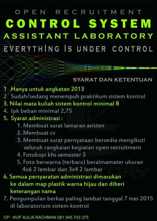 OPEN RECRUITMENT CONTROL SISTEM ASSISTANT LABORATORY